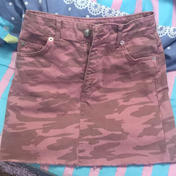 de16f1609 Topshop Skirts   Pink Camo Denim Skirt   Poshmark